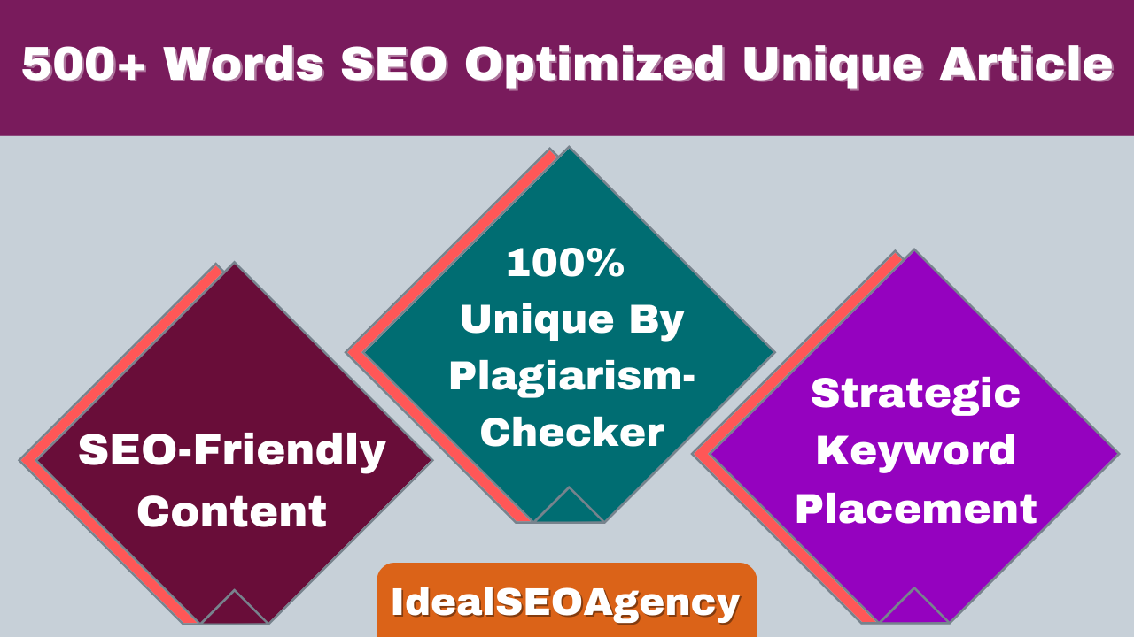 Get High-Quality SEO Optimized 500+ Words Unique Blog,  Content,  Article Writing on Any Topic