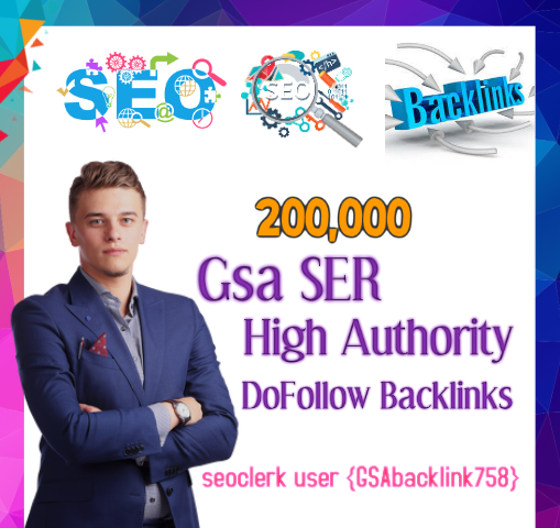 Top Most powerful 200,000 Gsa Ser backlinks,  high quality SEO links