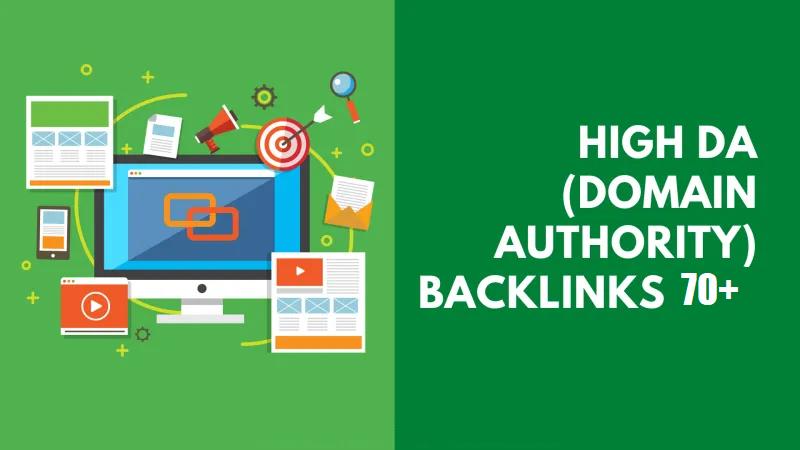 DA70+ Domain Authority Backlinks