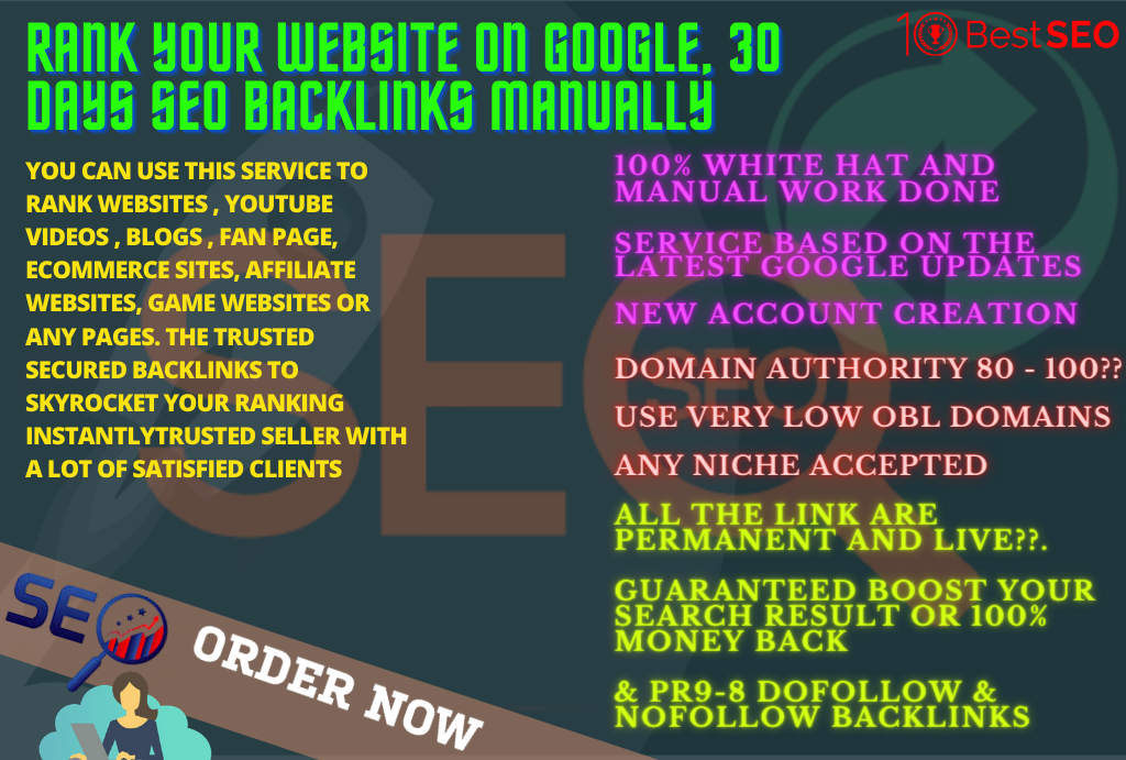 32124 pbn backlinks and Rank Your Website on Google,  30 Days SEO Backlinks Manually
