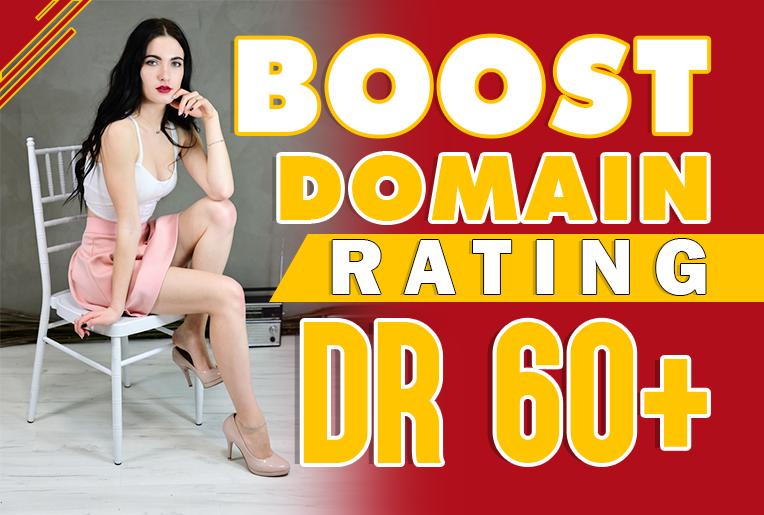 Guaranteed Increase Domain Authority DR Upto 60+ Rank Google Top Position