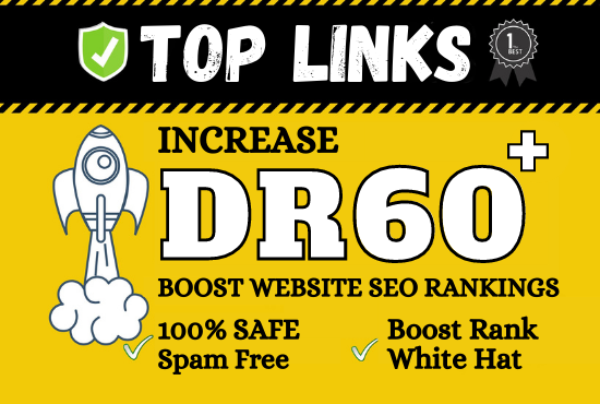 I will increase your website domain rating dr 60+ for google rankings