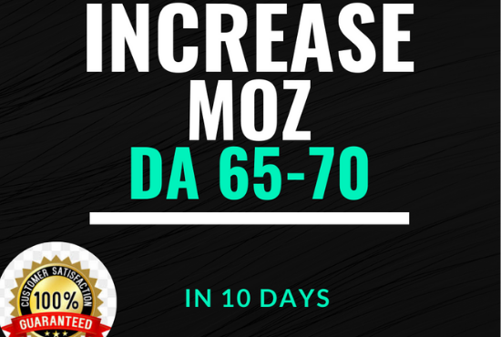 Moz DA Increase Domain authority 65 to 70 with high authority backlinks