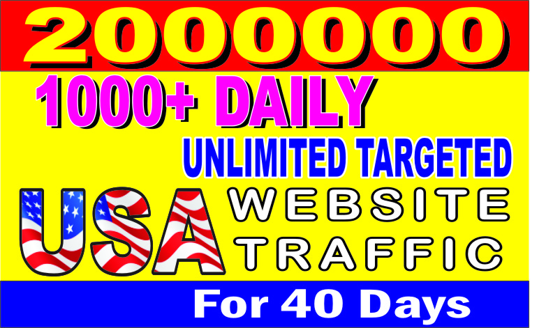I will bring UNLIMITED ORGANIC TRAFFIC from USA
