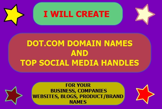 I will Create Business Names with unique SOCIAL MEDIA HANDLES