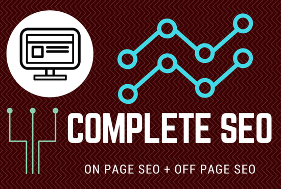 I will complete seo of your site for 1st page ranking on google