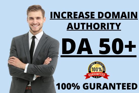 I will increase your website MOZ domain authority DA 50+ Guaranteed