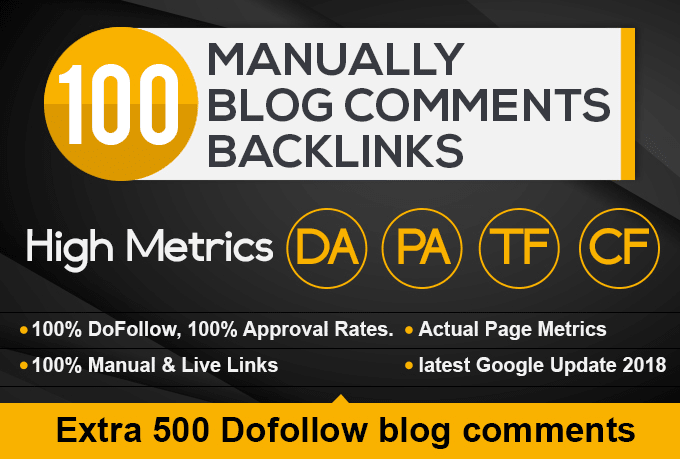 I Will Create 100 High Authority Blog C0mments DoFollow Backlinks