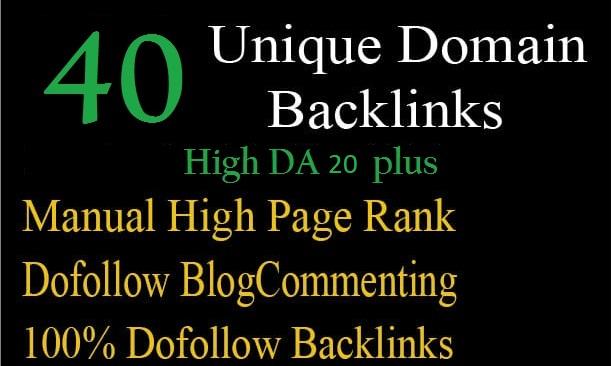 i will create 40 unique domain backlinks
