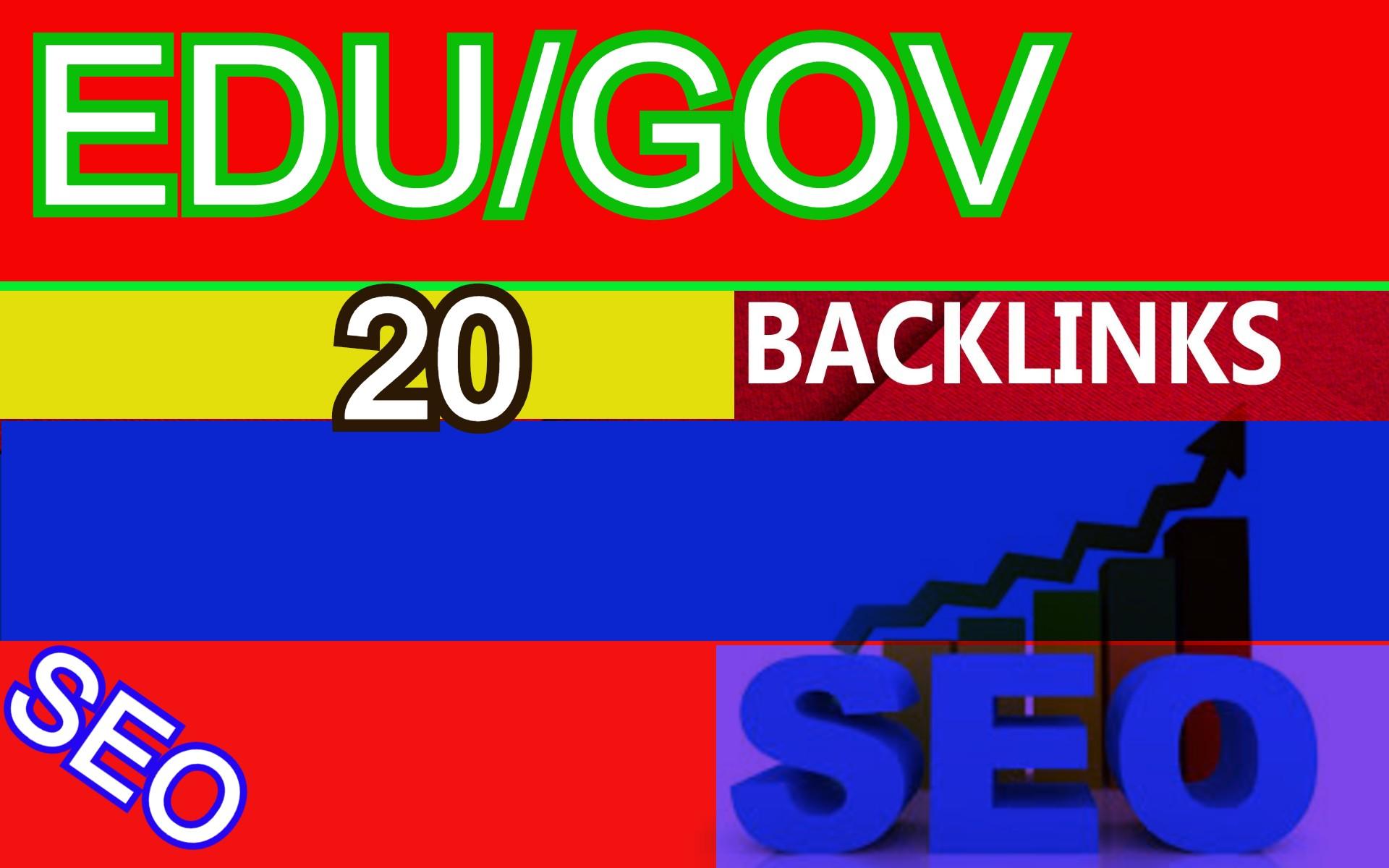 20 EDU/GOV backlinks using some Biggest PR9-2 Authority Domains