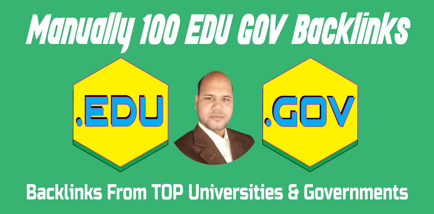 100 EDU GOV Backlinks Manually Created From Universities & Governments