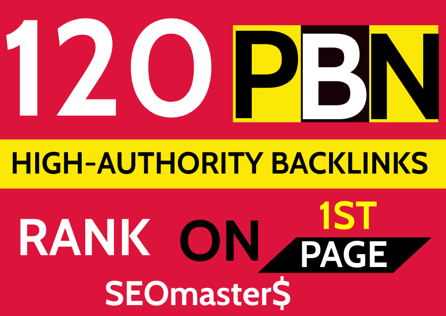 120 Permanent PBN DR 52 High Authority Homepage Backlinks - 2021 Highly Recommended