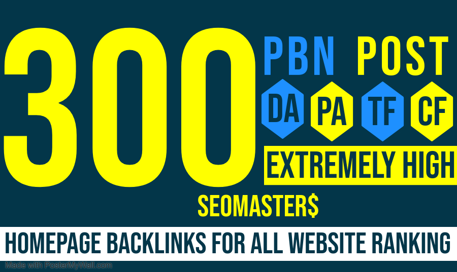 300 Permanent PBN DR 70 - High Authority Homepage Do-follow Backlinks according to Google update