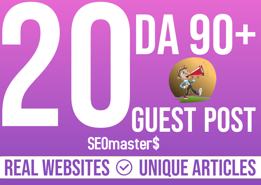I Will Write And Publish Guest Post On 20 Websites