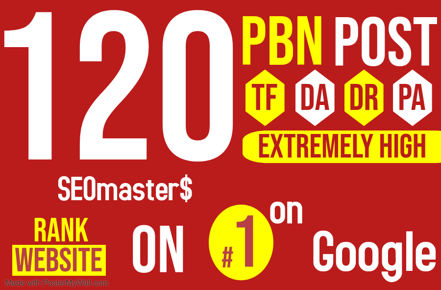 120 Permanent PBN DR 67 High Authority Homepage Do-follow Backlinks - Highly Recommended