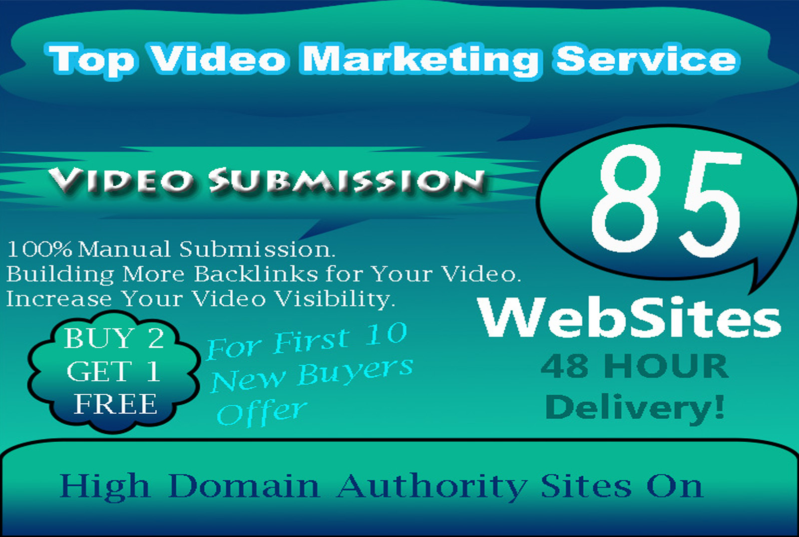 I will make manual video submission on top 85 high PR video sharing sites