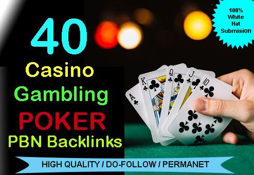 Get 40 permanent HIGH DA 58-30+ PBN Backlinks Casino,  Gambling,  Poker,  Judi Related Websites