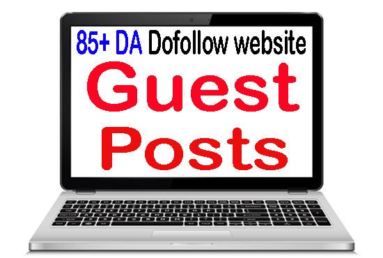 Write and publish 1 Unique guest post on 85 pulse DA SEO backlink