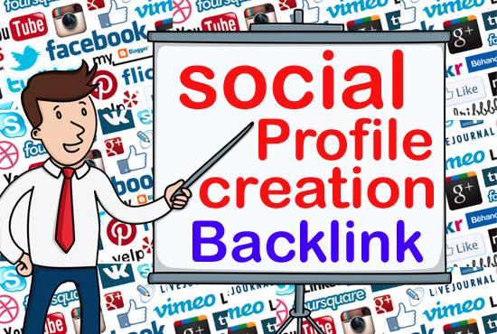 I will do Manually build 60 social media profiles creation powerful seo backlinks