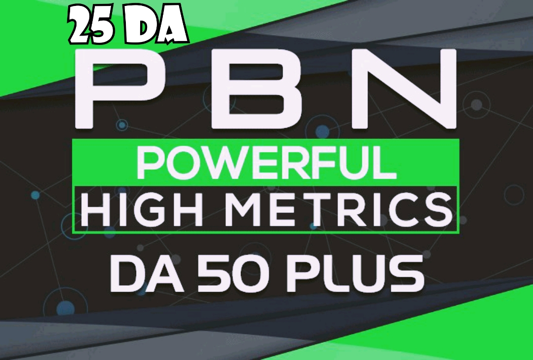 Provide you 25 DA 30-40 permanent Dofollow PBN Backlinks