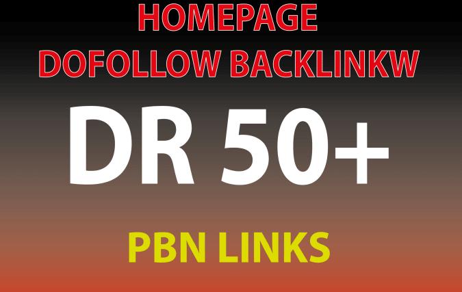 Get 3 DR 50+ homepage permanent PBN Backlinks