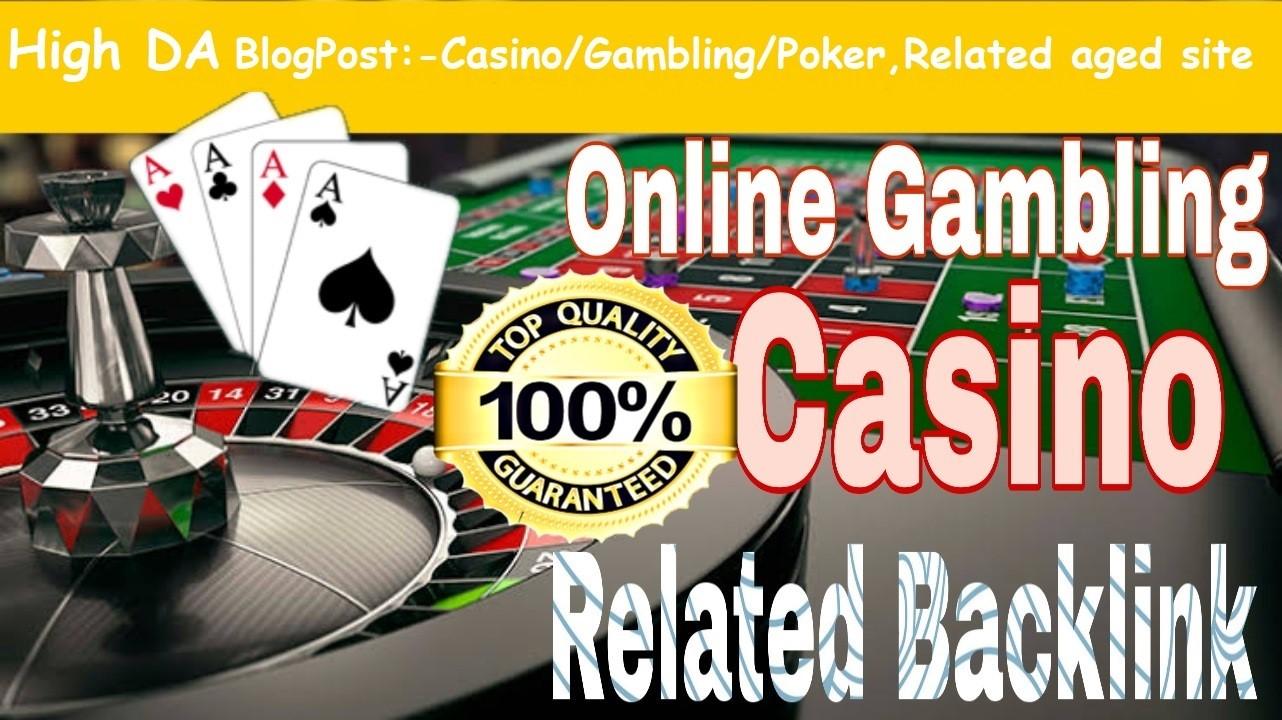 Provide You 150 High DA 50+ Casino,  Gambling,  Poker, Betting Related PBNs.