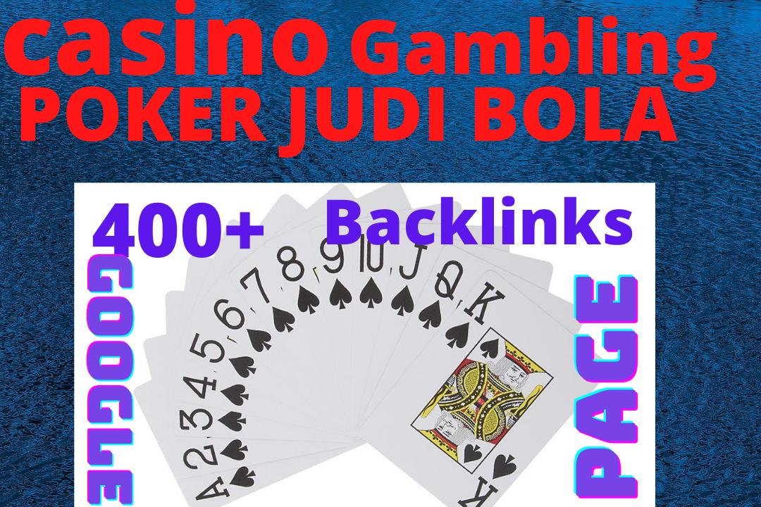 Add create 400+ casino/gambling/poker/jodi bola HQ PBN google first page ranking backlinks