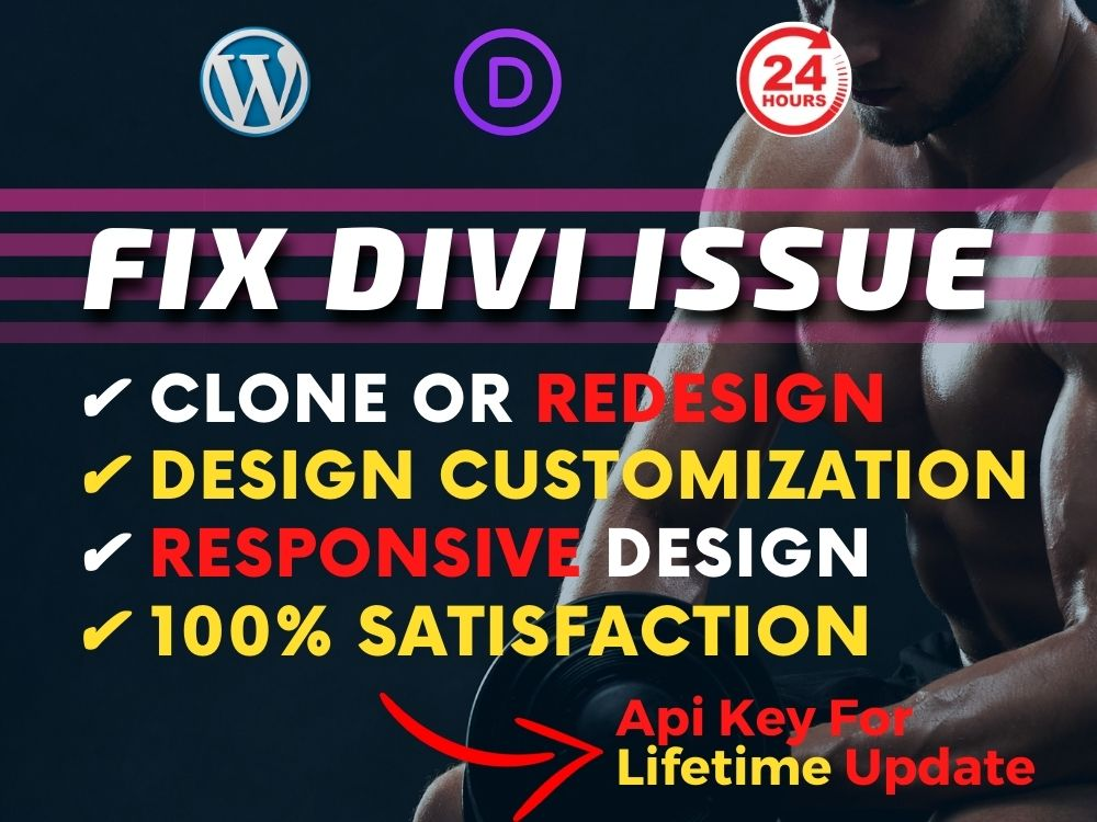 I will design complete divi website or divi theme customization