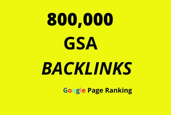 I will 800,000 gsa dofollow backlinks campaign for ranking