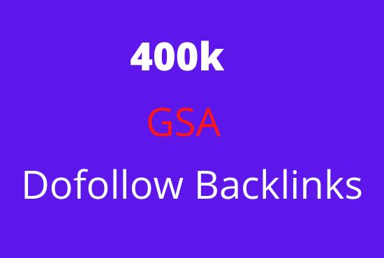 I will 400k dofollow backlinks for google ranking