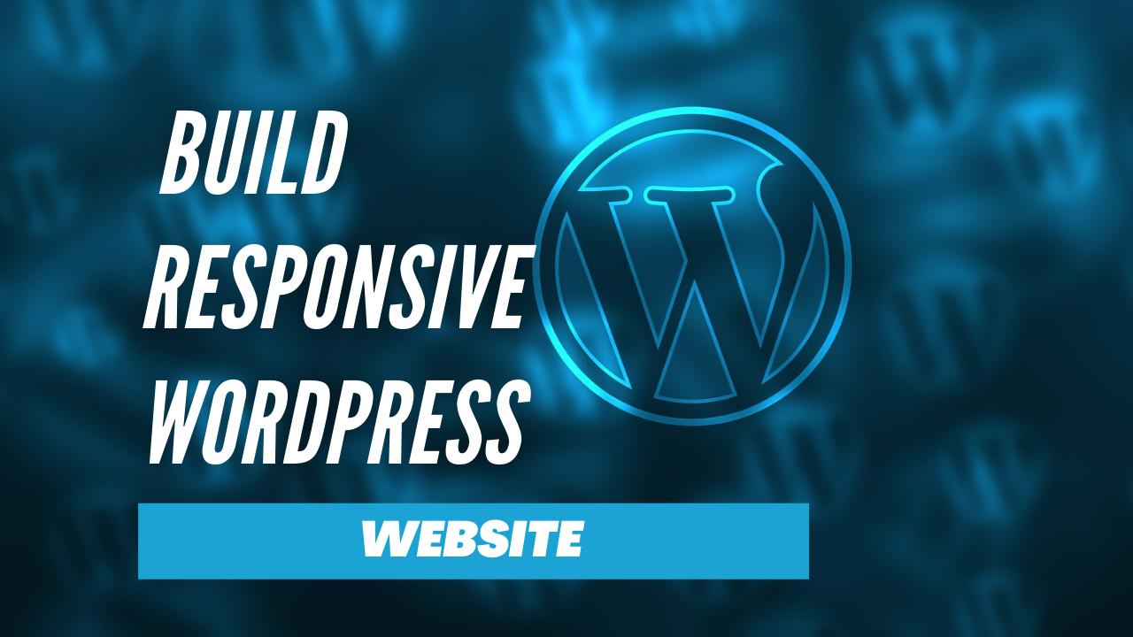 I will build a modern wordpress website with a unique web design