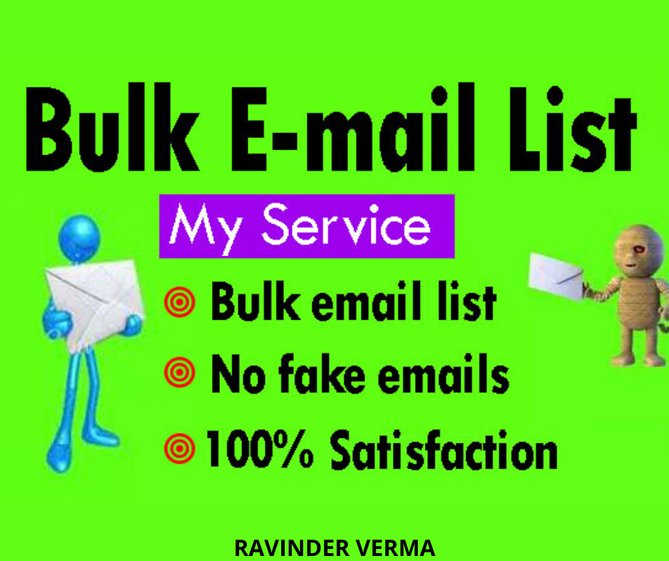Provide You 1000 Bulk Emails To Increase Your Sales