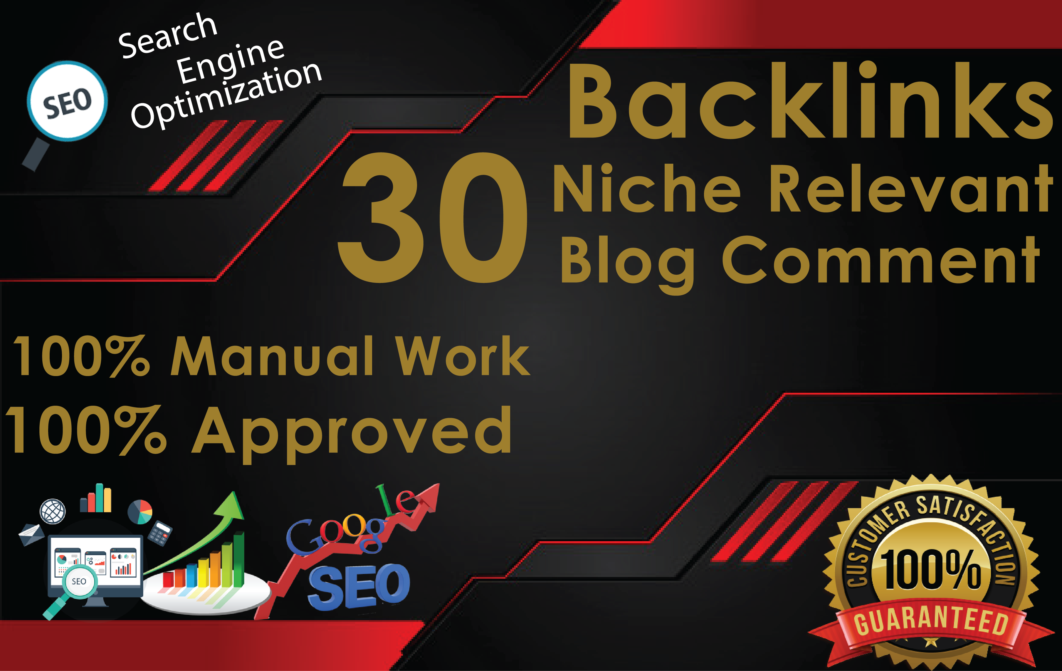 I will do 30 niche relevant blog comments on high domain backlinks