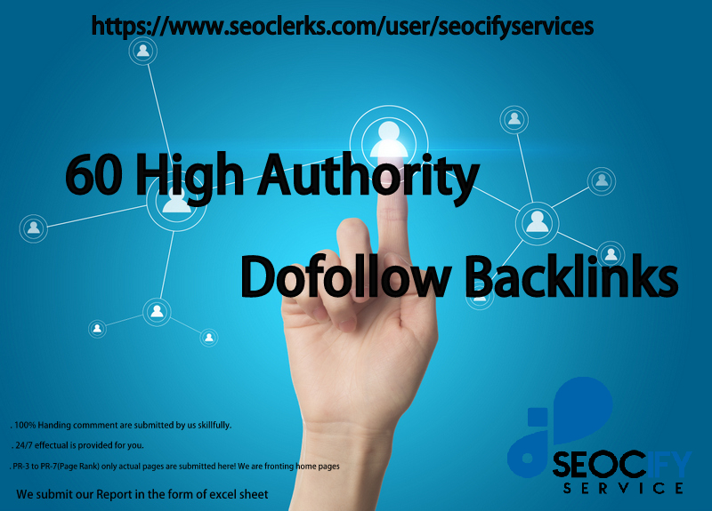 I will do 60 Dofollow Backlinks to improve your Website Ranking