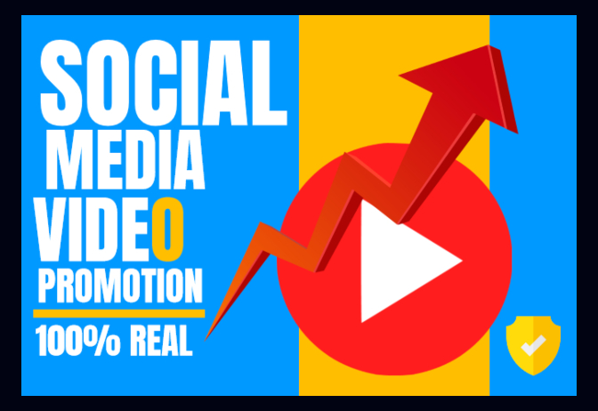 instant BOOST Video Promotion Of any Social Media Original And Real Growth