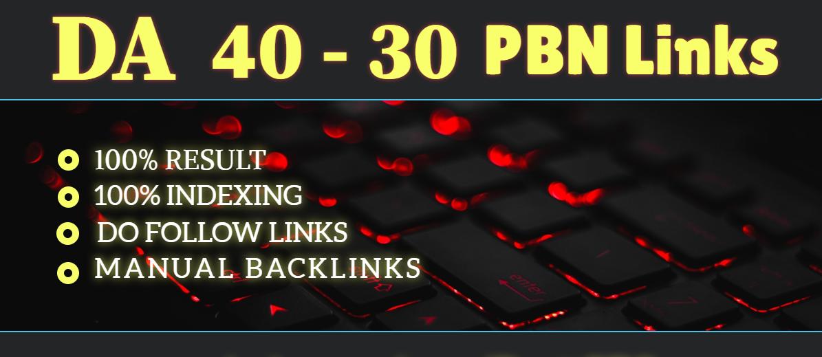 Provide you 20 high DA 30-40 PBN links