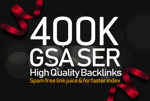 i Build 400,000 Gsa Ser backlink To improve Google Ranking