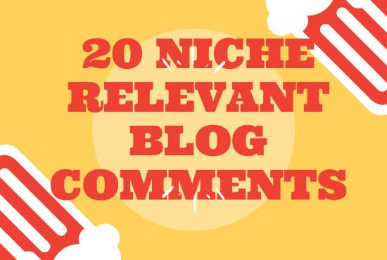 I will do 20 niche relevant blog comment