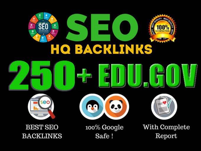 I Will Do 250+ HQ Edu. Gov Backlinks Manually For Website SEO