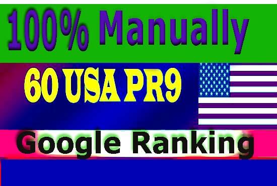 I will build 60 USA pr9 high quality SEO safe authority backlink,  link building