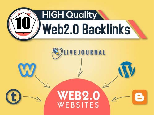 I will Provide 10 High quality DA/PA Web 2.0 backlinks
