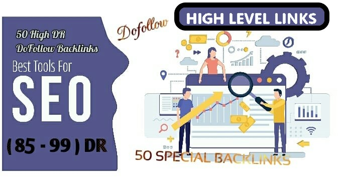 I Will Build DR 90 to 99 High Quality 50 dofollow backlinks for seo services,  First page Ranking Now