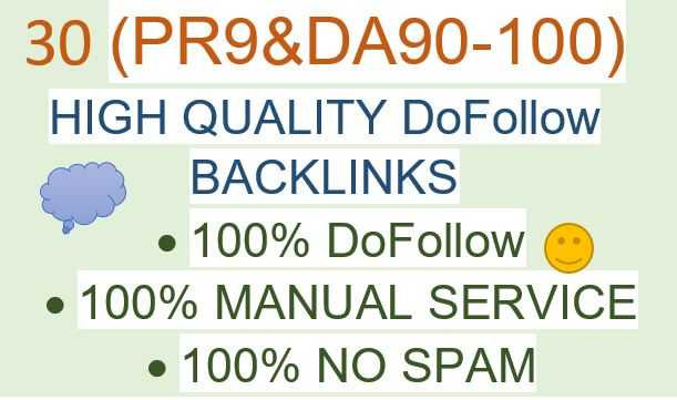 I will do Ranking your website with 30 High Authority SEO Backlinks DA90-100