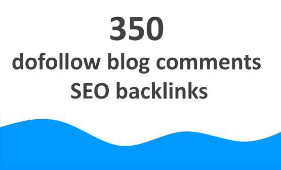 350 dofollow blog comments SEO backlinks
