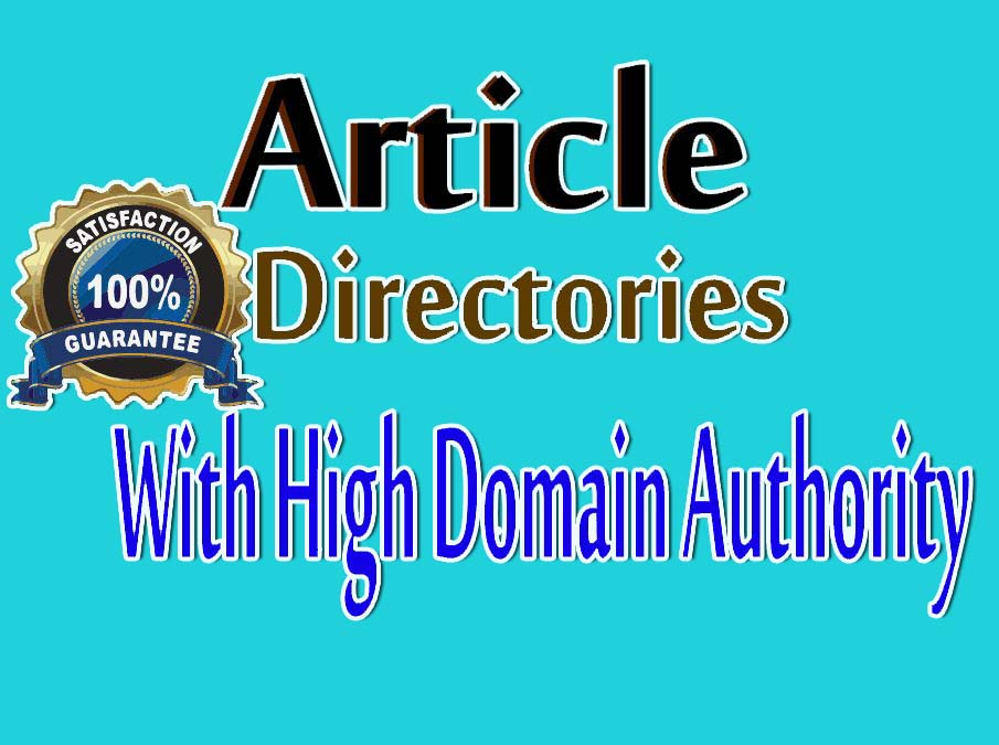 Build 500 Article Directories Backlinks Excel File And Login Details