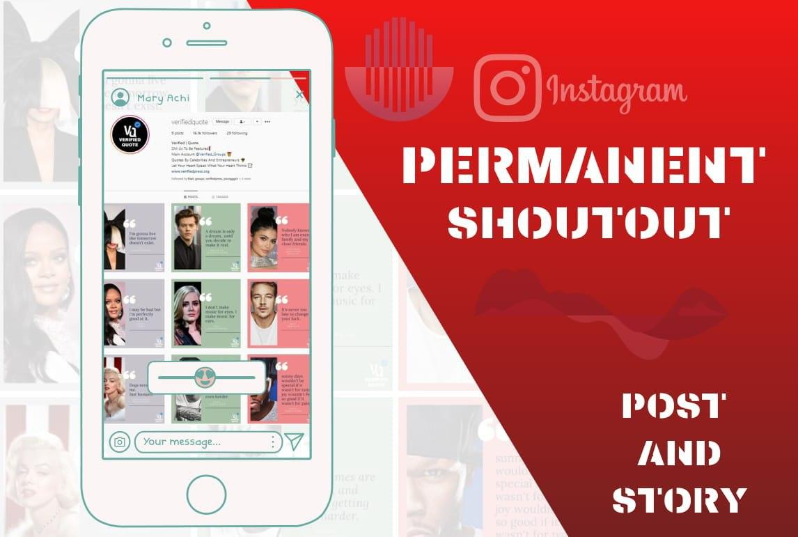 We will shoutout and promote your quote on our instagram and website