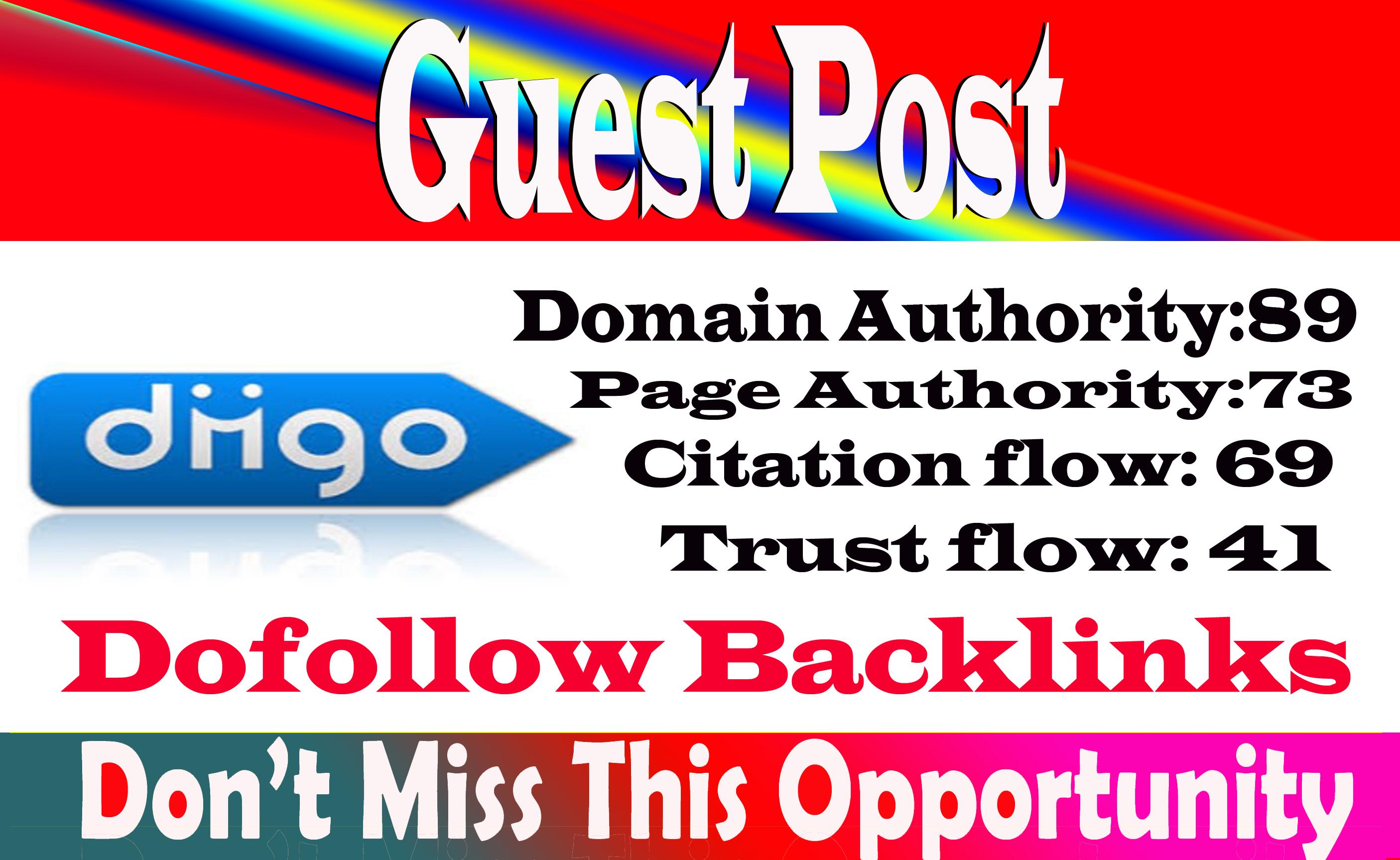 write and publish a Dofoll0w guest post Diigo,  diigo. com DA 89 With permanent strong backlink