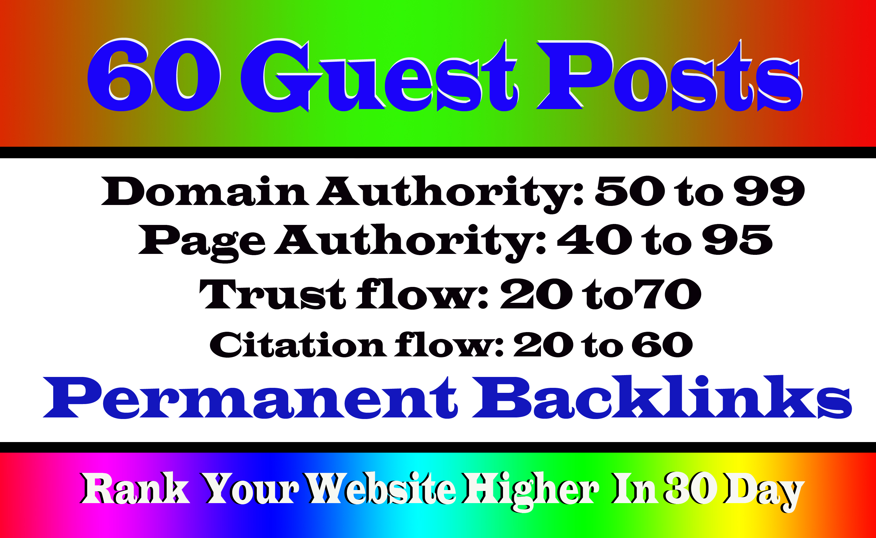 Write And Publish 40+ Guest Post On High DA99-40 Websites