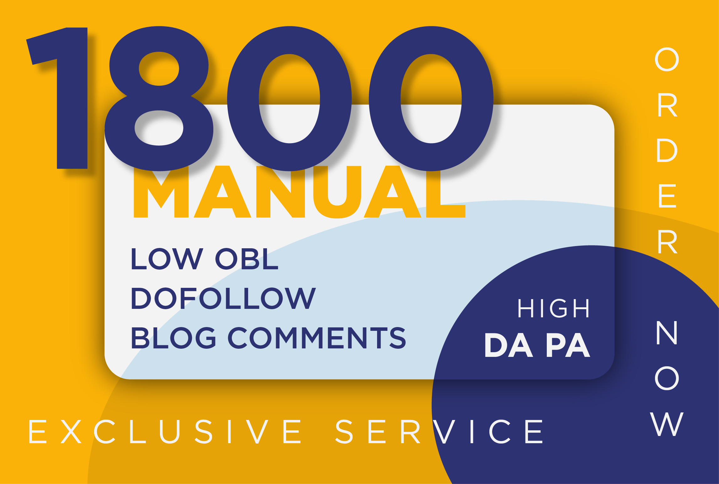 I will create Top quality 1800 do follow blog comments on high pa da links