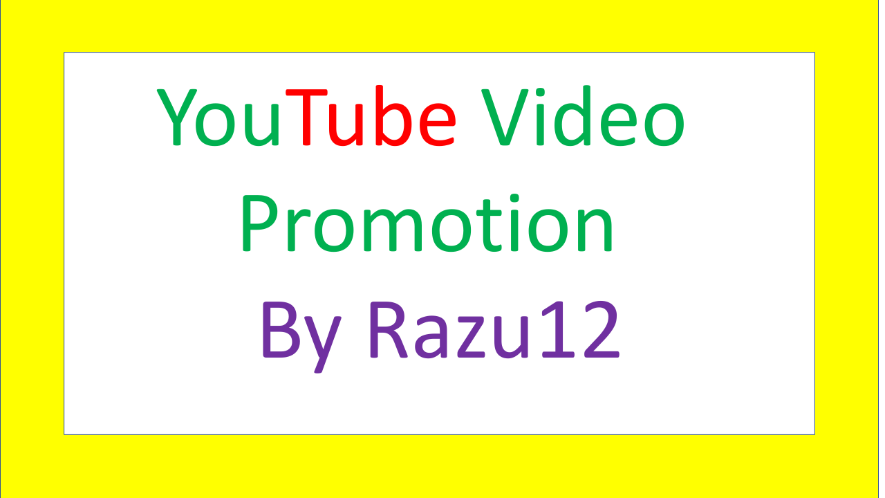 Instant YouTube video Promotion services by Razu12